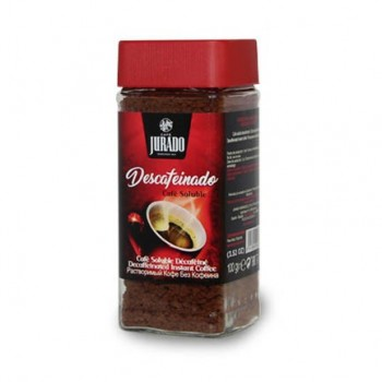 Decaffeinated soluble coffee