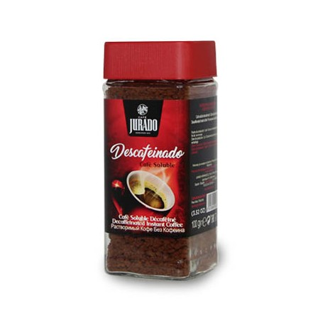 Decaffeinated agglomerated soluble coffee