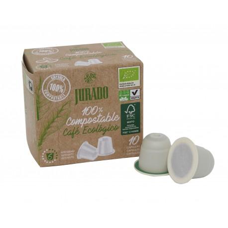 Cápsulas de café Ecológico 100% Compostables Compatibles