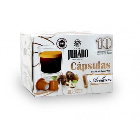 Cápsulas de Café con aroma Avellana
