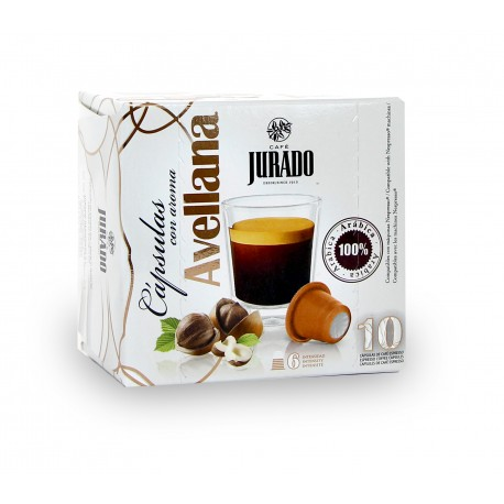 Coffee Capsules Hazelnut flavored