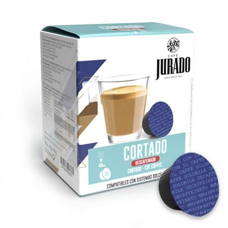 CÁPSULAS  DE CAFÉ DESCAFEINADO COMPATIBLES DOLCE GUSTO® CORTADO