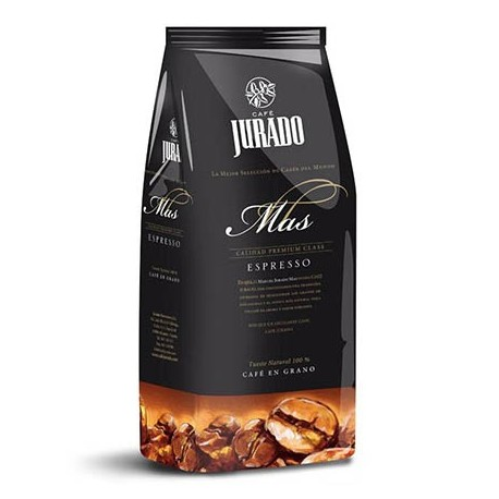 Espresso Natural Roast Coffee Beans Jurado Más 1kg