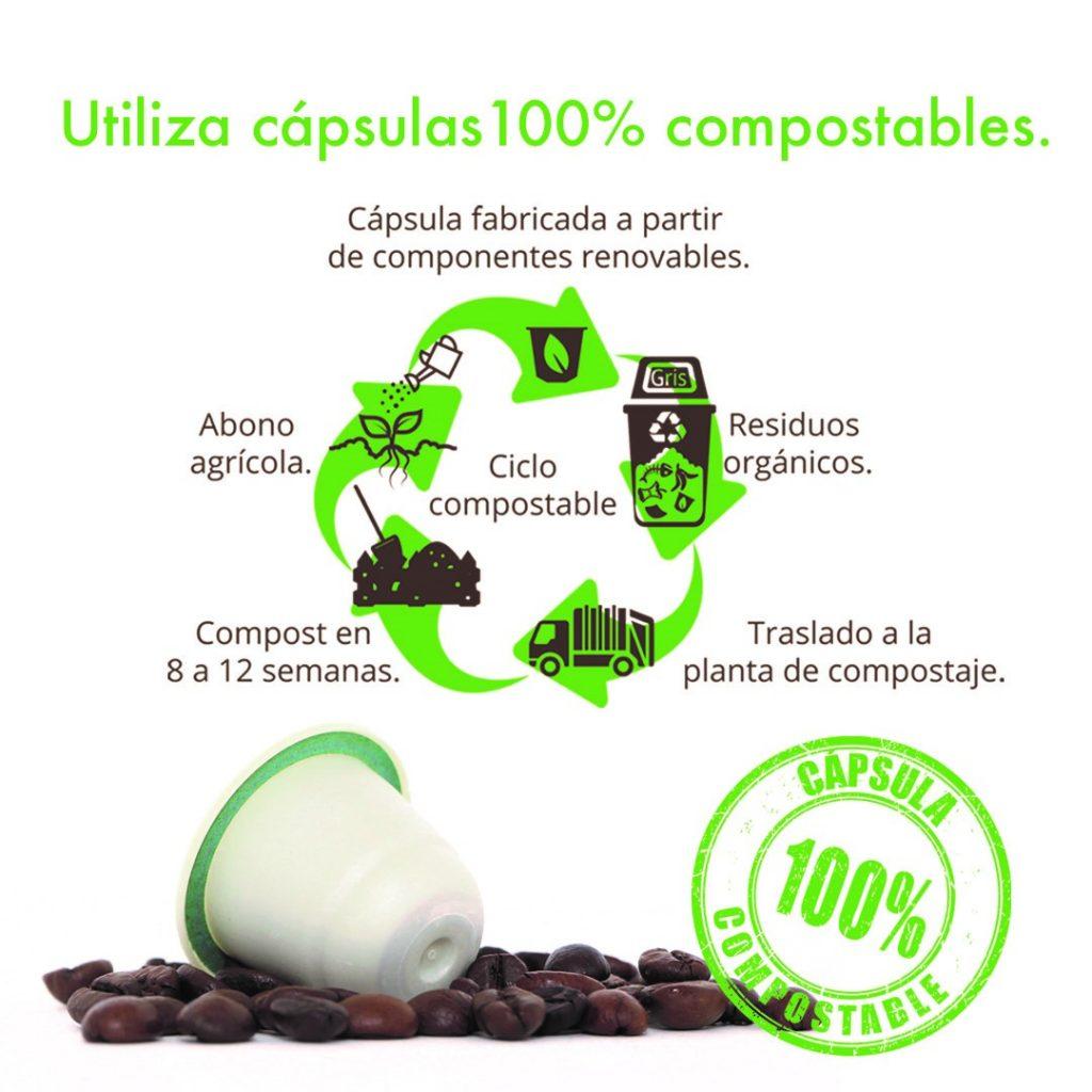 Ciclo de vida de las cápsulas compostables o biodegradables de Café jurado
