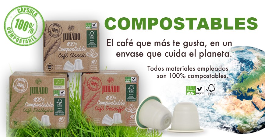 comprar cápuslas de café compostable ecológicas biodegradables